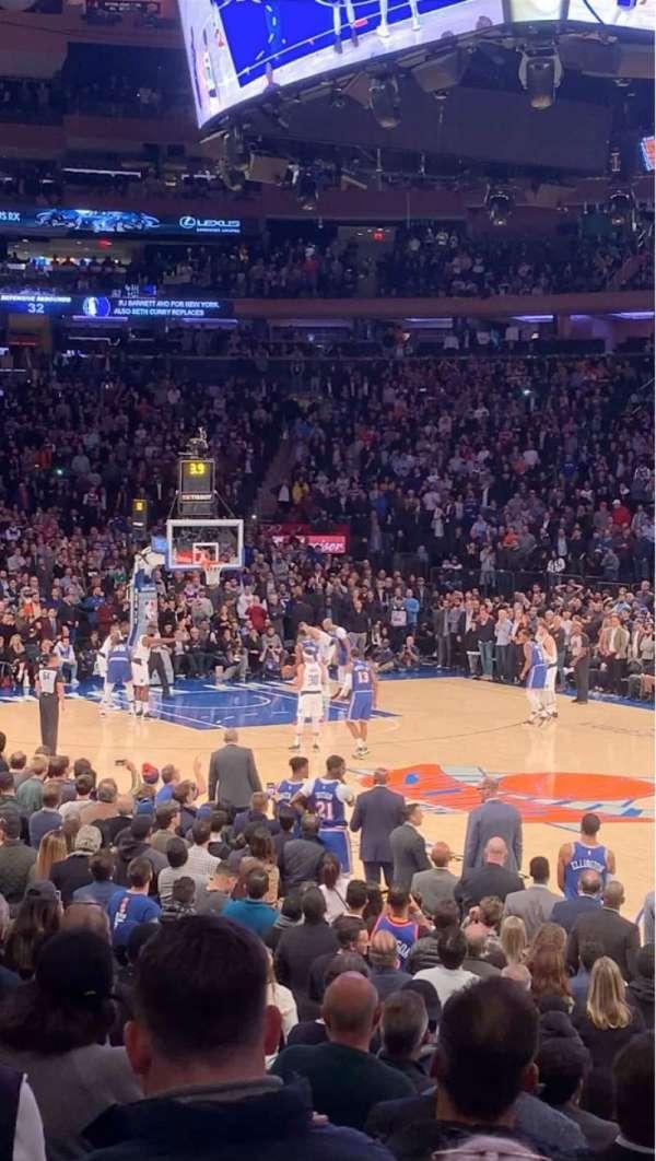 Madison Square Garden, sección: 109, fila: 8, asiento: 14
