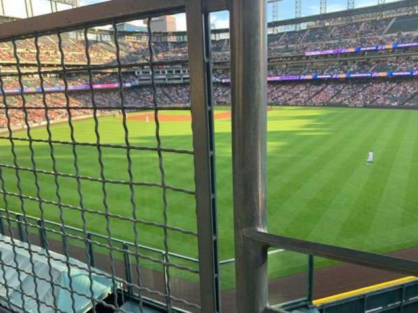 Coors Field, sección: 201, fila: 1, asiento: 9