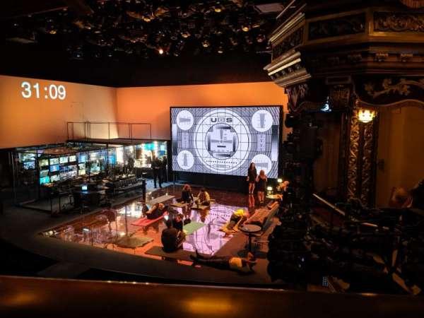 Belasco Theatre, sección: Mezzanine R, fila: A, asiento: 14
