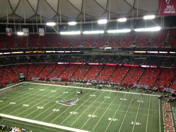 Georgia Dome, sección: 343, fila: 9, asiento: 3