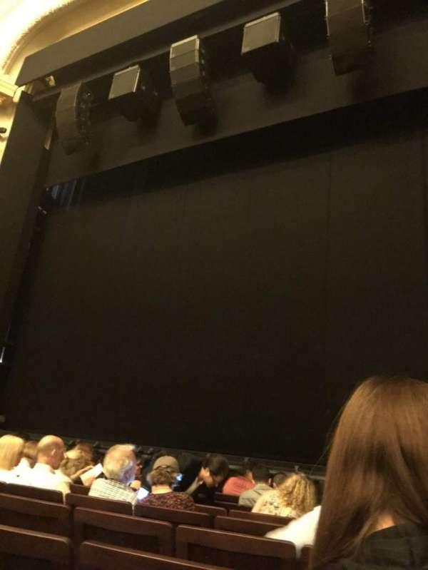 Hudson Theatre, sección: Orchestra C, fila: H, asiento: 121