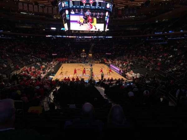 Madison Square Garden, sección: 102, fila: 16, asiento: 6