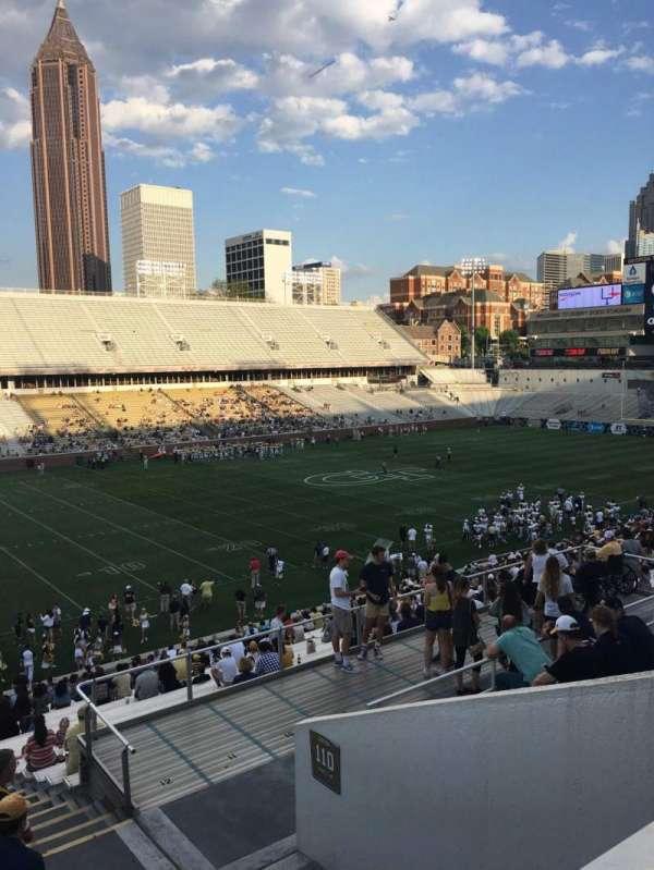 Bobby Dodd Stadium, sección: 111, fila: 38, asiento: 5