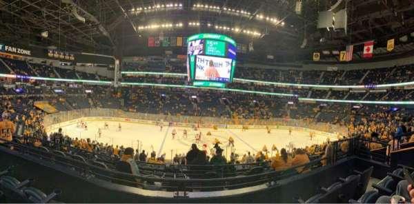 Bridgestone Arena, sección: 115, fila: L, asiento: 7