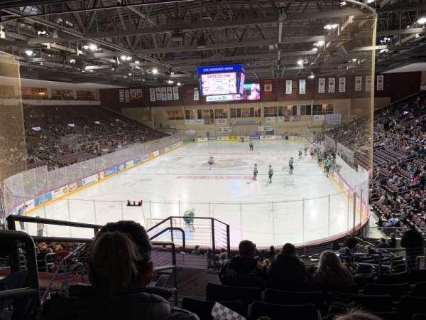 Erie Insurance Arena, sección: 212, fila: V, asiento: 18