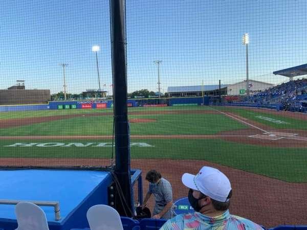 TD Ballpark, sección: 109, fila: 5, asiento: 9