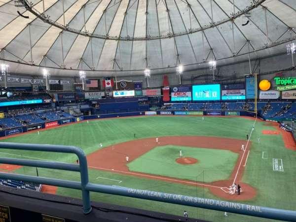 Tropicana Field, sección: 305, fila: B, asiento: 3