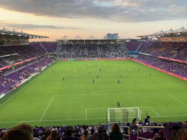 Exploria Stadium, sección: 105, fila: X, asiento: 3