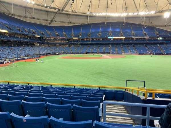 Tropicana Field, sección: 144, fila: EE, asiento: 22