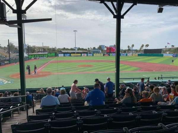 Jackie Robinson Ballpark, sección: C, fila: 13, asiento: 2