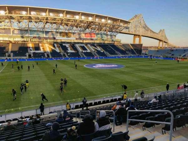 Talen Energy Stadium, sección: 110, fila: T, asiento: 5