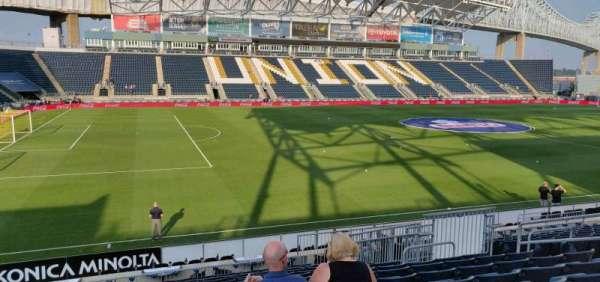 Talen Energy Stadium, sección: 111, fila: S, asiento: 11