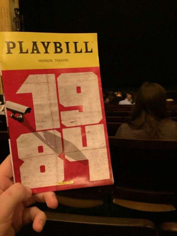 Hudson Theatre, sección: Orchestra C, fila: M, asiento: 110