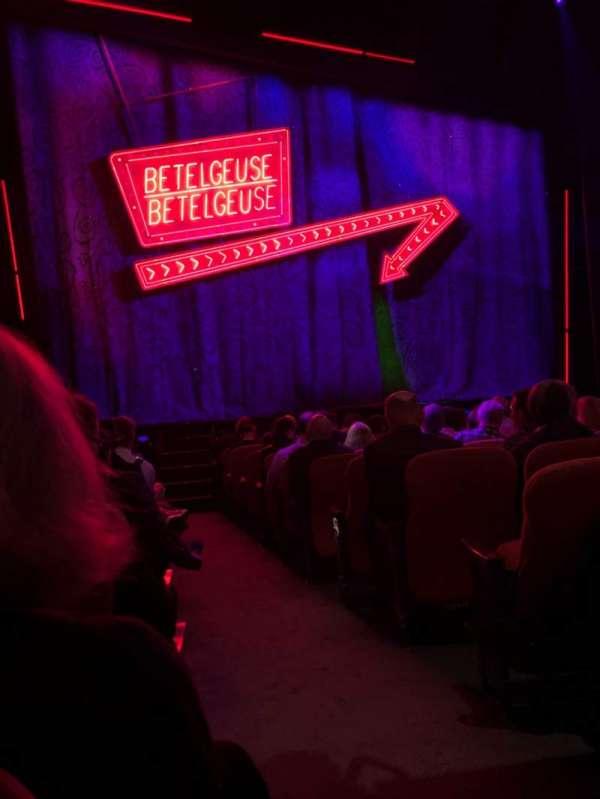 National Theatre (DC), sección: Orch, fila: M, asiento: 1