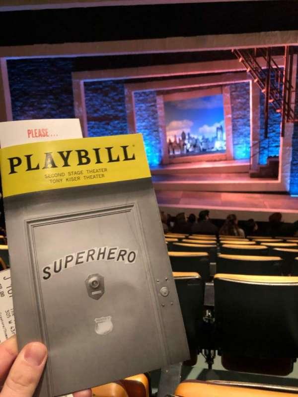 Tony Kiser Theatre, sección: Orch, fila: J, asiento: 107