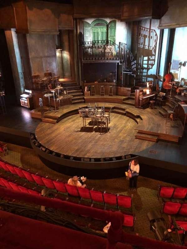 Walter Kerr Theatre, sección: Mezz, fila: B, asiento: 2