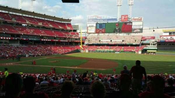 Great American Ball Park, sección: 131, fila: NN, asiento: 1