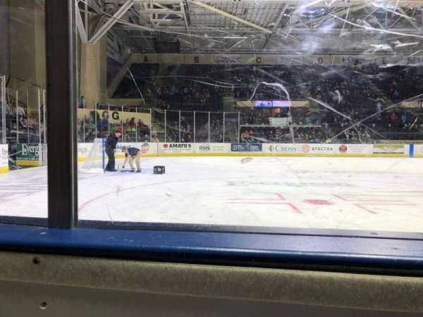 Cross Insurance Arena, sección: Y, fila: 1, asiento: 3