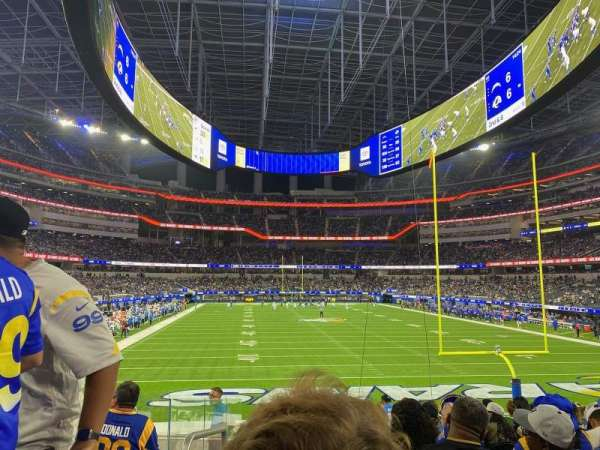 SoFi Stadium, sección: 121, fila: 13, asiento: 25