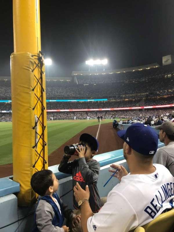Dodger Stadium, sección: 49FD, fila: A, asiento: 12