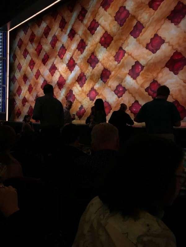 Brooks Atkinson Theatre, sección: ORCH, fila: E, asiento: 12