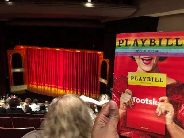 Marquis Theatre, sección: Mezzanine R, fila: J, asiento: 22