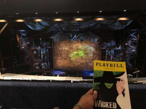 Gershwin Theatre, sección: Mezzanine, fila: G, asiento: 116