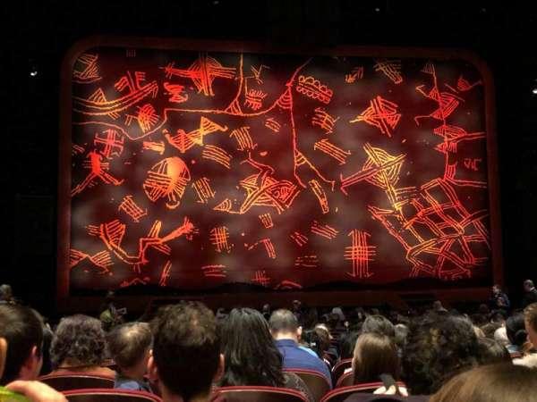 Minskoff Theatre, sección: Orchestra C, fila: T, asiento: 108