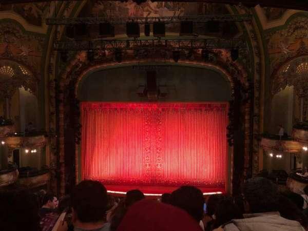 New Amsterdam Theatre, sección: Mezzanine C, fila: JJ, asiento: 105