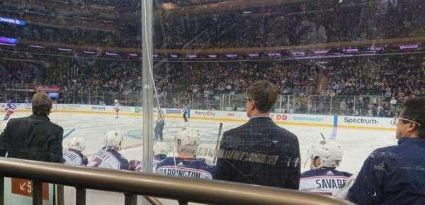 Madison Square Garden, sección: 108, fila: 1, asiento: 4