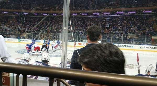 Madison Square Garden, sección: 108, fila: 1, asiento: 3