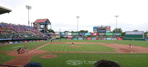 McCoy Stadium, sección: 4, fila: D, asiento: 1