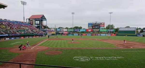 McCoy Stadium, sección: 4, fila: D, asiento: 6