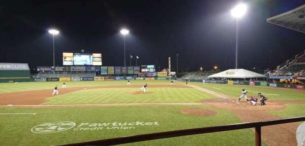 McCoy Stadium, sección: 9, fila: B, asiento: 15
