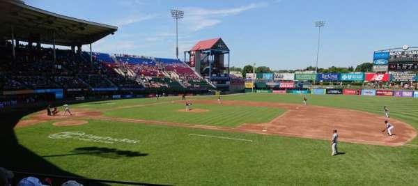 McCoy Stadium, sección: 1, fila: F, asiento: 7