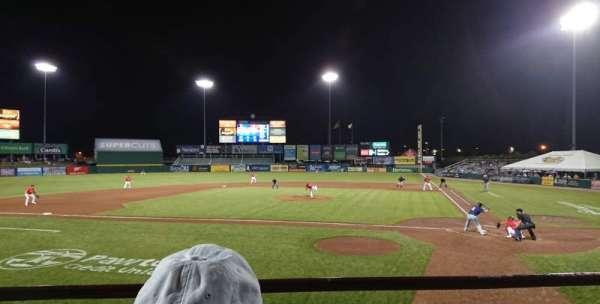 McCoy Stadium, sección: 9, fila: B, asiento: 1