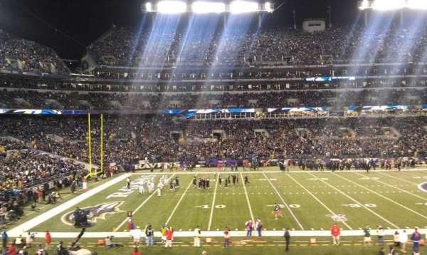 M&T Bank Stadium, sección: 102, fila: 30, asiento: 18