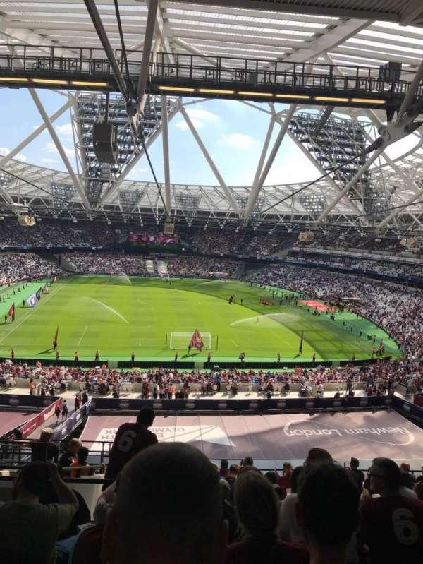 London Stadium, sección: 249, fila: 61, asiento: 21