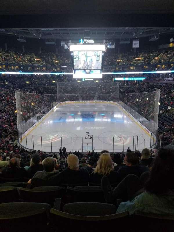Nationwide Arena, sección: 120, fila: MM, asiento: 10