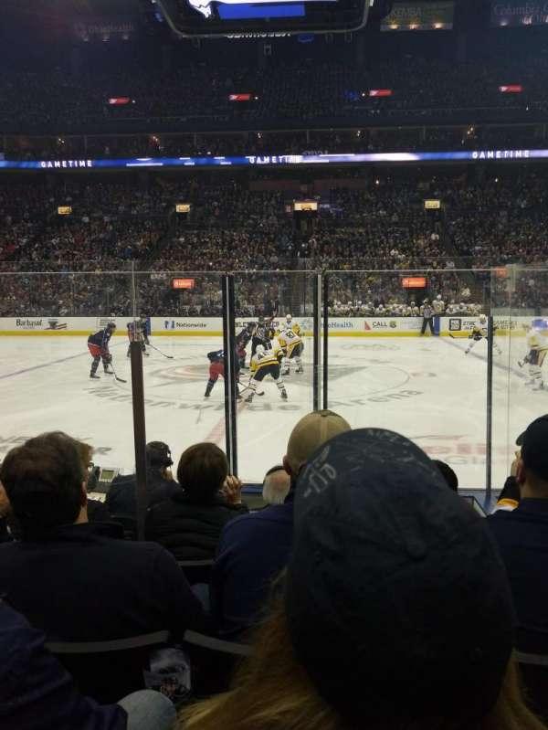 Nationwide Arena, sección: 114, fila: F, asiento: 16