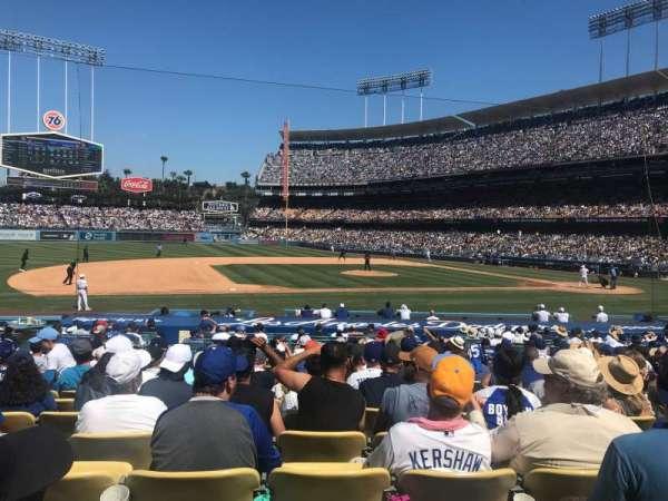 Dodger Stadium, sección: 25FD, fila: P, asiento: 3
