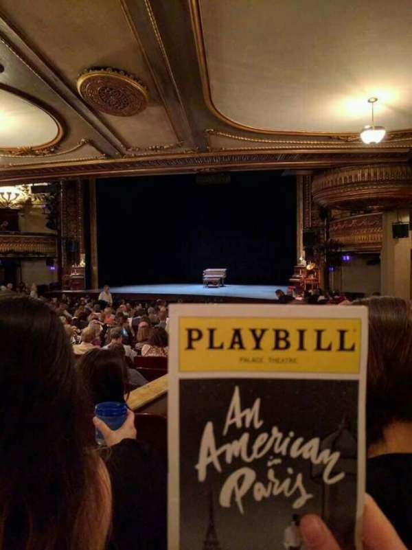 Palace Theatre (Broadway), sección: Orchestra Right, fila: S, asiento: 6