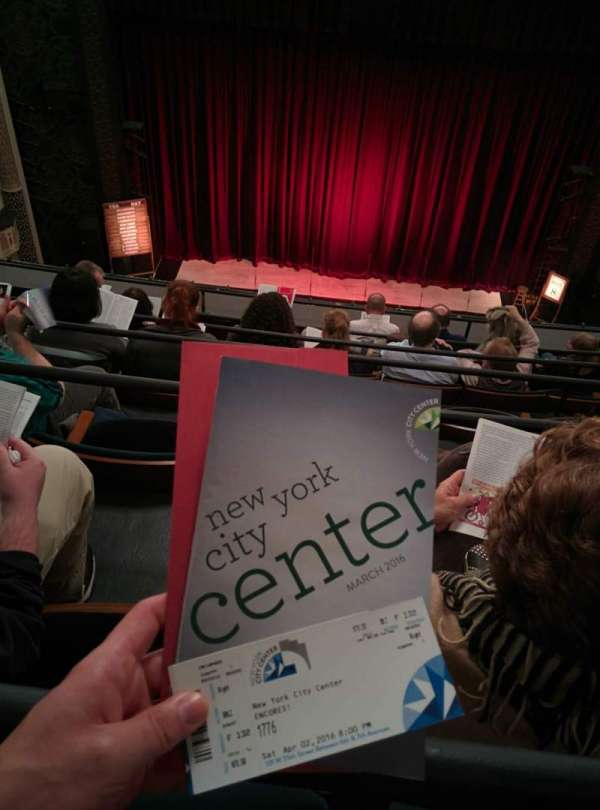Mainstage at the New York City Center, sección: Balcony, fila: F, asiento: 132