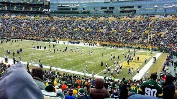 Lambeau Field, sección: 109, fila: 44, asiento: 18