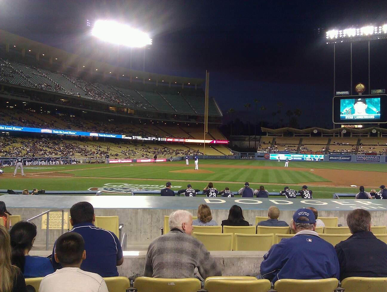 Dodger Stadium Sección 18FD Fila E Asiento 6