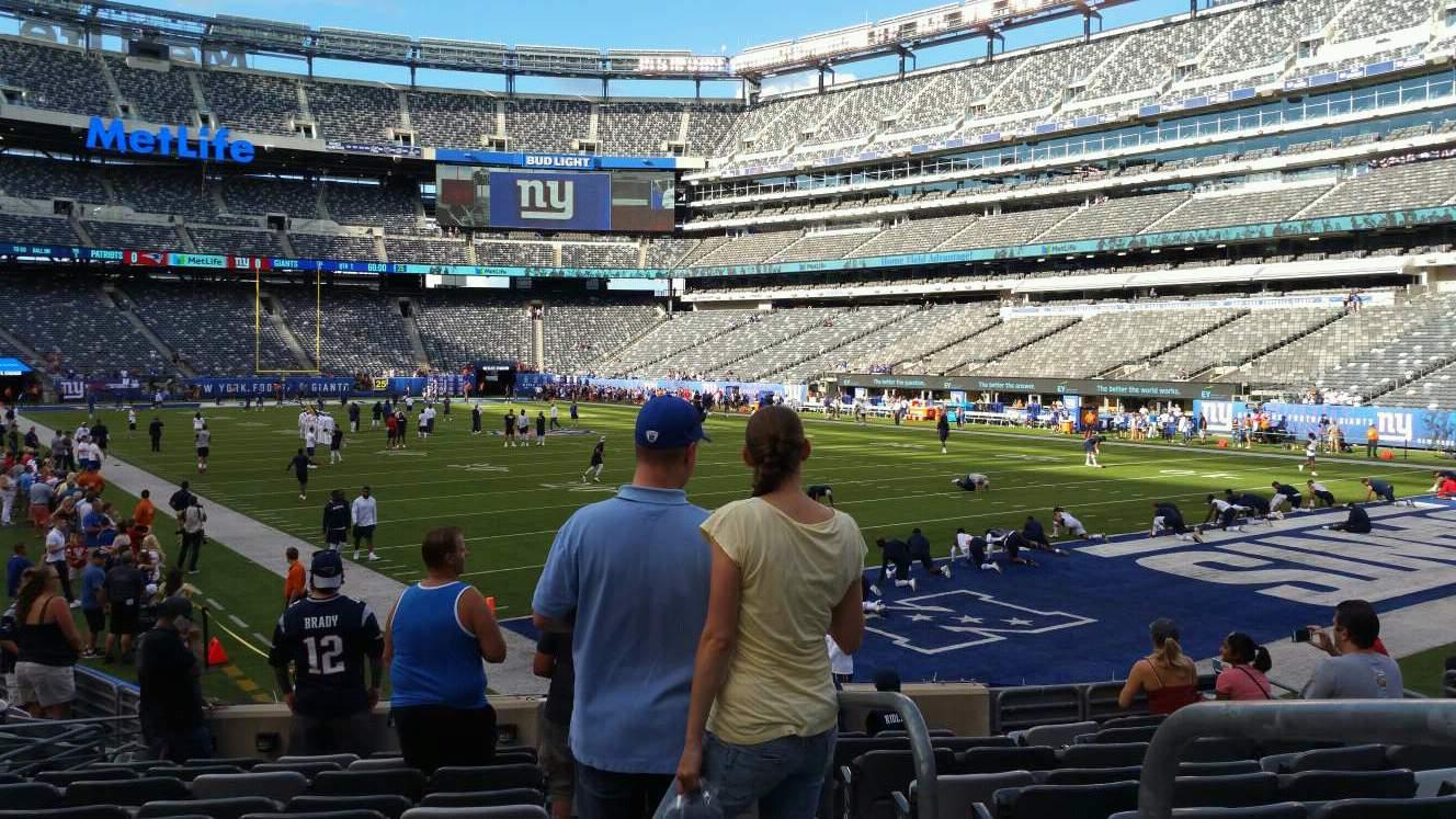 2cc31d3a MetLife Stadium sección 131 fila 12 asiento 1 - New York Giants vs ...