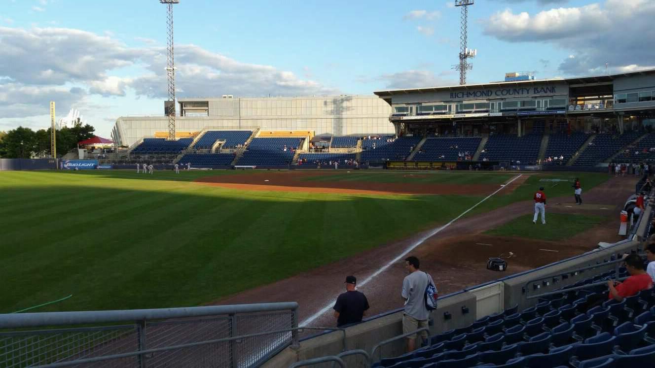 Richmond County Bank Ballpark Sección 1 Fila J Asiento 18