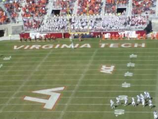 Lane Stadium Sección 503 Fila DD Asiento 23