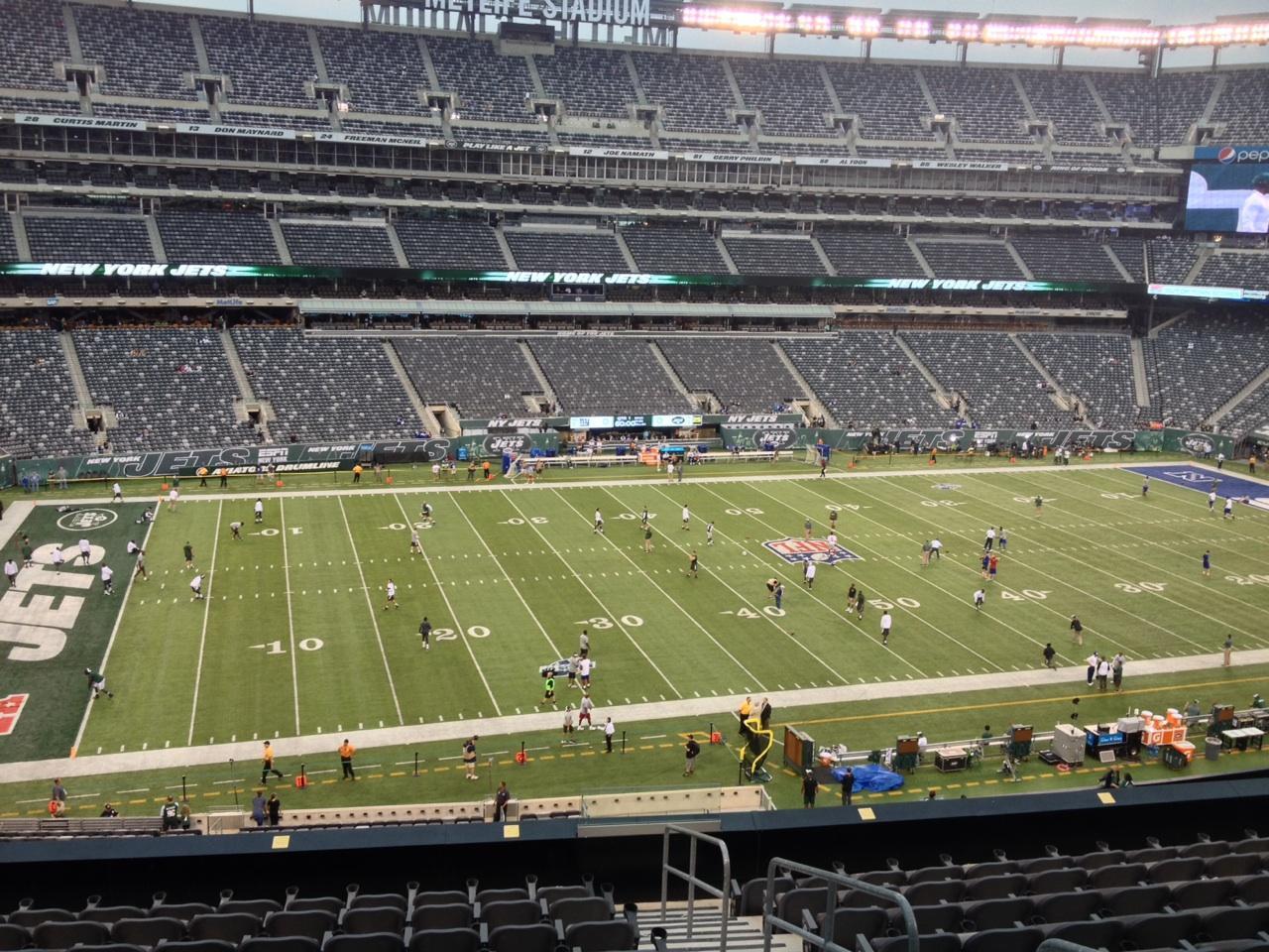 04960bda MetLife Stadium sección 217 fila 11 asiento 1 - New York Jets vs New ...