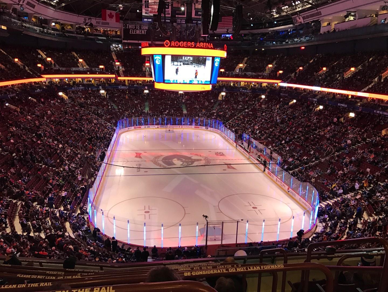 Rogers Arena Sección 301 Fila 7 Asiento 101